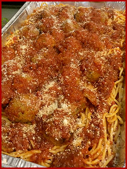 Kings New York Pizza Catering Spaghetti and Meatballs Tray